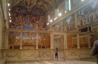 A private visit inside the Sistine Chapel
