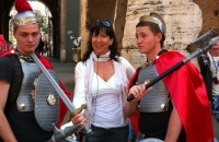 our guide Guia and 2... modern gladiators in the Coliseum