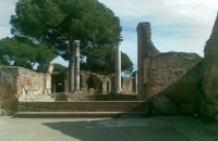 Ostia Antica Panorama of the Thermal baths of the Forum
