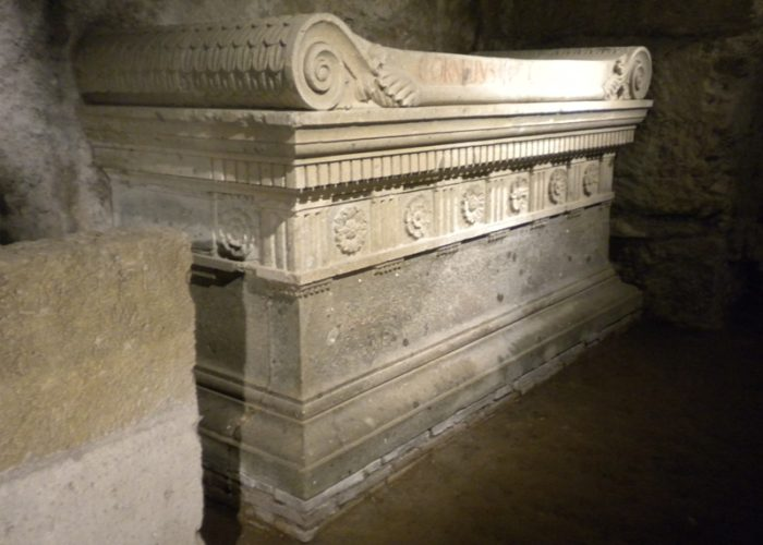 THE TOMB OF THE SCIPIOS ON THE APPIAN WAY